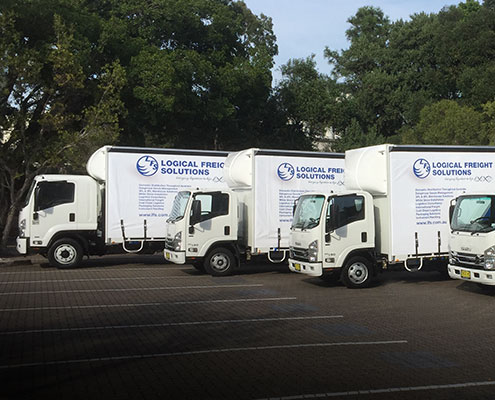 Fleet of LFS vehicles